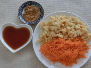 油揚げとニンジン、ヒジキの煮物2