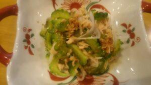 ゴーヤと玉ねぎのツナサラダ3