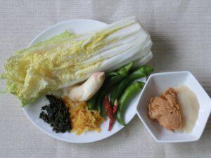白菜の芯の塩こうじ漬け1