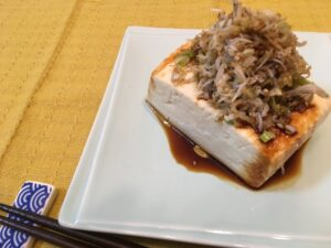 じゃこ乗せ豆腐3