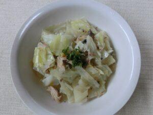 キャベツとサバの水煮缶の味噌スープ3