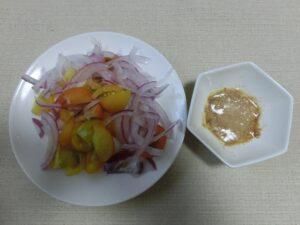 紫玉ねぎとプチトマトの塩こうじサラダ2