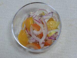 紫玉ねぎとプチトマトの塩こうじサラダ3