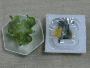 納豆とブロッコリーの茎サラダ1