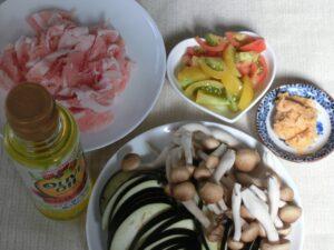 ナスとシメジの豚味噌炒め2
