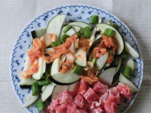 夏野菜豚キムチ炒め2