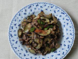 夏野菜豚キムチ炒め3