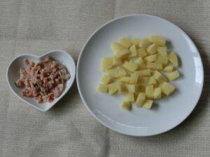 サケの水煮缶のポテトサラダの作り方2