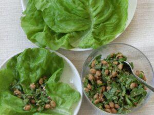 サラダ菜の納豆巻き2