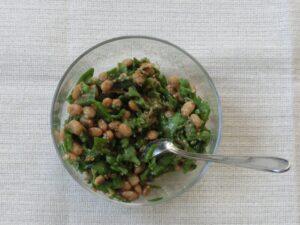 サラダ菜の納豆巻き3