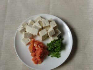 豆腐とキムチのサラダ2