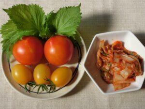 トマトのキムチあえ1