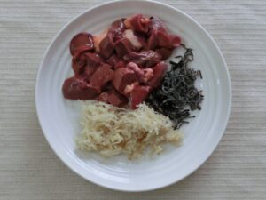 鶏レバーのショウガと塩昆布煮2
